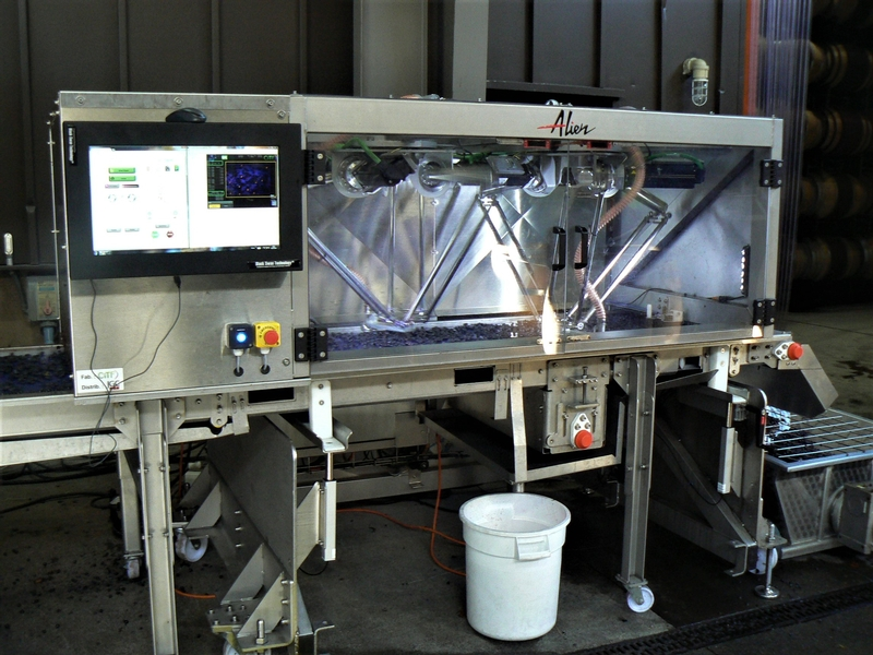 "Alpha Omega Winery Tests New ""Alien"" Grape Sorting Robot"